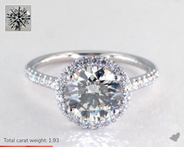 10000 engagement ring